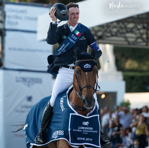 Ben Maher on Explosion won the 2019 Longines Global Champions Tour of Rome
